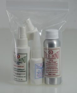 glue Delrin® with the Basic Poly KIt- SI Blue, Poly Prep, Activator/Accelerator